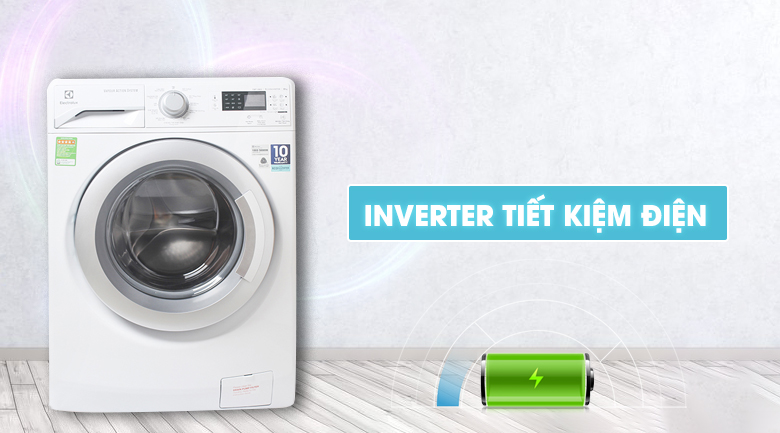 Máy giặt Electrolux EWF12853 tiết kiệm điện
