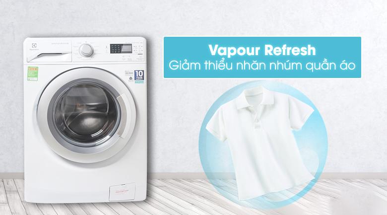 Công nghệ Vapour Refresh giảm thiểu nhăn nhúm quần áo