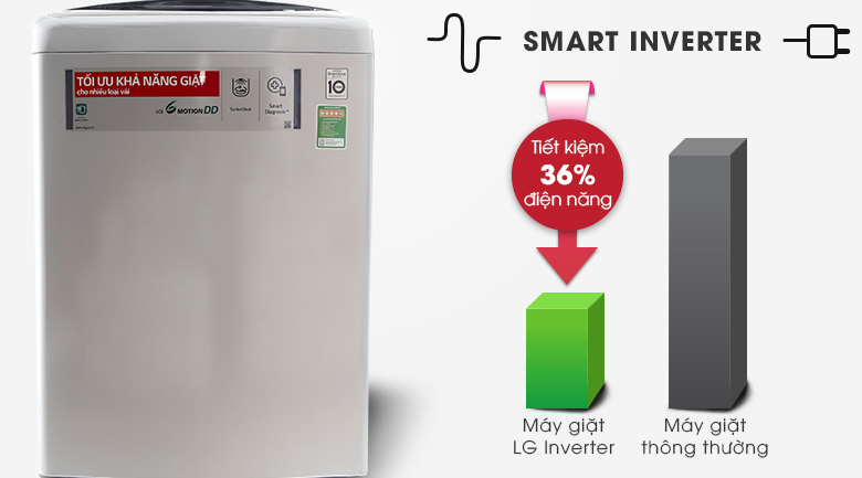 Smart Inverter - Máy giặt LG Inverter 11 kg T2311DSAL