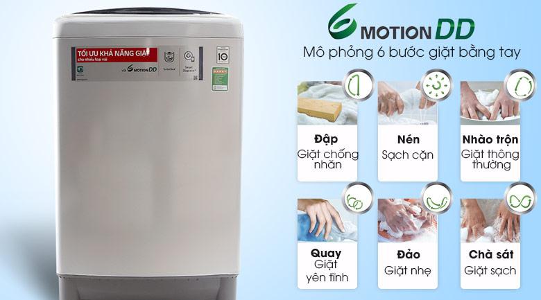 Công nghệ giặt 6 chuyển động - Máy giặt LG Inverter 11 kg T2311DSAL