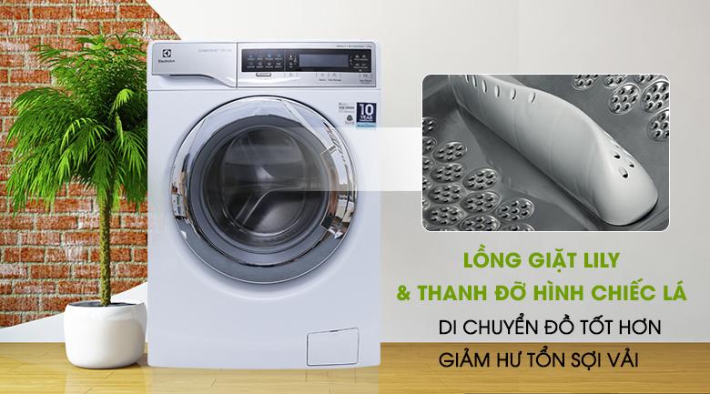 Lồng giặt Lily và thanh đỡ hình chiếc lá - Máy giặt Electrolux Inverter 11 kg EWF14113