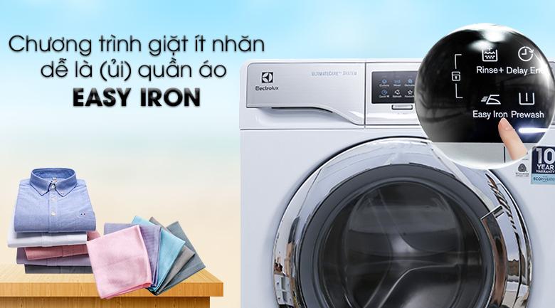Chương trình giặt Easy Iron - Máy giặt Electrolux Inverter 11 kg EWF14113