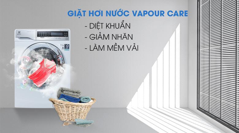 Công nghệ giặt hơi nước Vapour Care - Máy giặt Electrolux Inverter 11 kg EWF14113