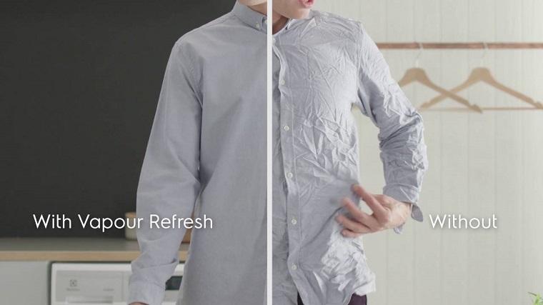 Vapour Refresh giúp quần áo hết nhăn nhúm