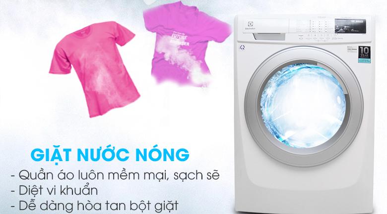 Chức năng giặt nước nóng - Máy giặt Electrolux Inverter 8 kg EWF10844