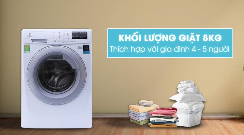 Máy giặt Electrolux Inverter 8 kg EWF10844 sang trọng và tinh tế