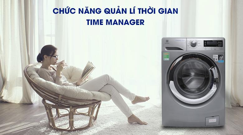 Chức năng quản lí thời gian Time Manager - Máy giặt Electrolux Inverter 9.5 kg EWF12935S