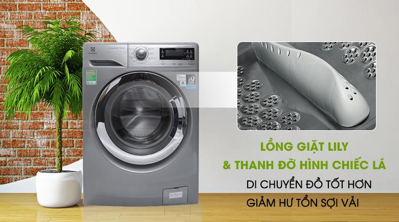 Lồng giặt Lily & thanh đỡ hình chiếc lá - Máy giặt Electrolux Inverter 9.5 kg EWF12935S