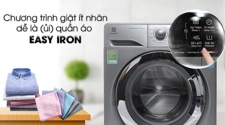 Chương trình giặt Easy Iron - Máy giặt Electrolux Inverter 9.5 kg EWF12935S