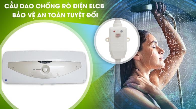 Cầu dao chống rò điện ELCB - Bình nóng lạnh Ariston 15 lít SL 15 MT