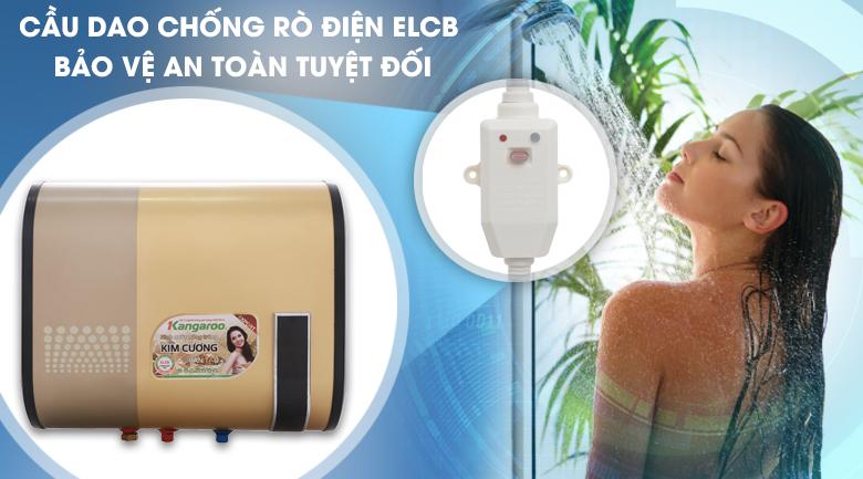 Cầu dao chống giật ELCB - Máy nước nóng Kangaroo 22 lít KG664Y
