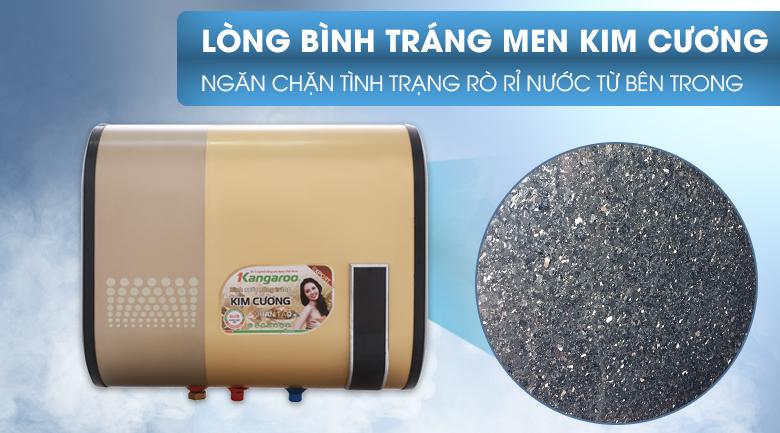 Lòng bình tráng kim cương nhân tạo - Máy nước nóng Kangaroo 22 lít KG664Y