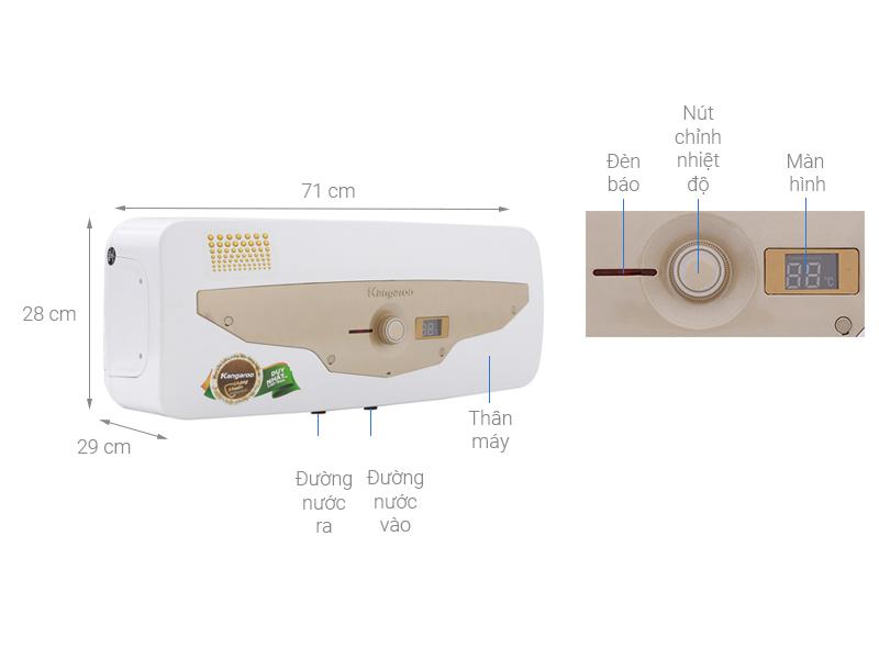 Thông số kỹ thuật Máy nước nóng Kangaroo 22 lít KG69A2