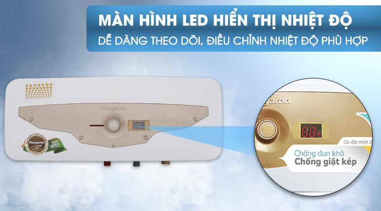 Màn hình LED - Bình tắm nóng lạnh Kangaroo 22 lít KG69A2