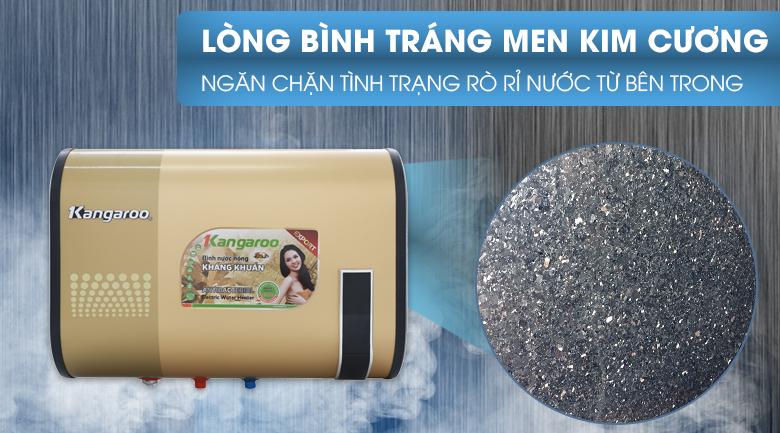 Ruột bình chứa tráng men kim cương - Bình tắm nóng lạnh Kangaroo 32 lít KG660Y