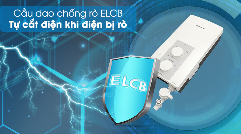 ELCB - Máy nước nóng Panasonic DH-3RL2VH 3.5KW