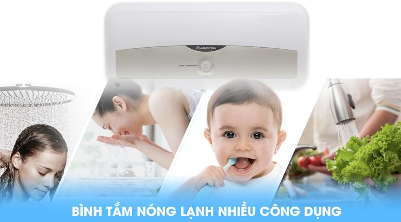 Bình tắm nóng lạnh có nhiều công dụng - Bình nóng lạnh Ariston SL 30 ST 2.5 FE - MT 30 lít