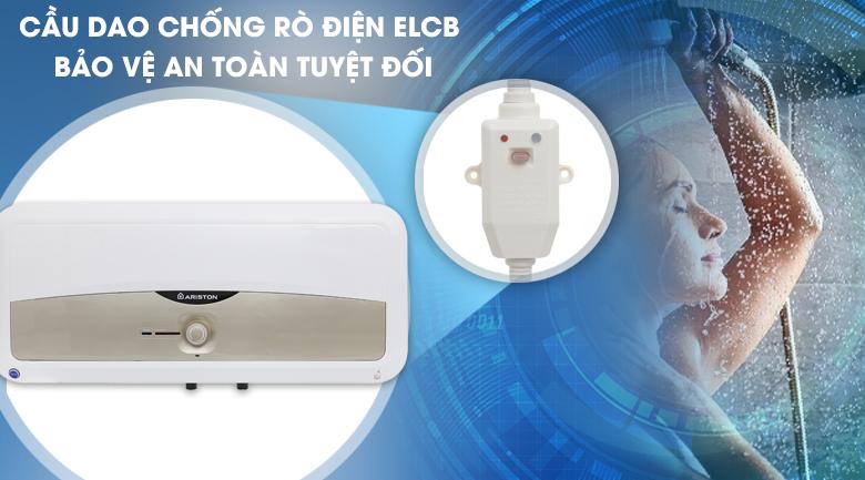Cầu dao ELCB - Bình nóng lạnh Ariston SL 30 ST 2.5 FE - MT 30 lít