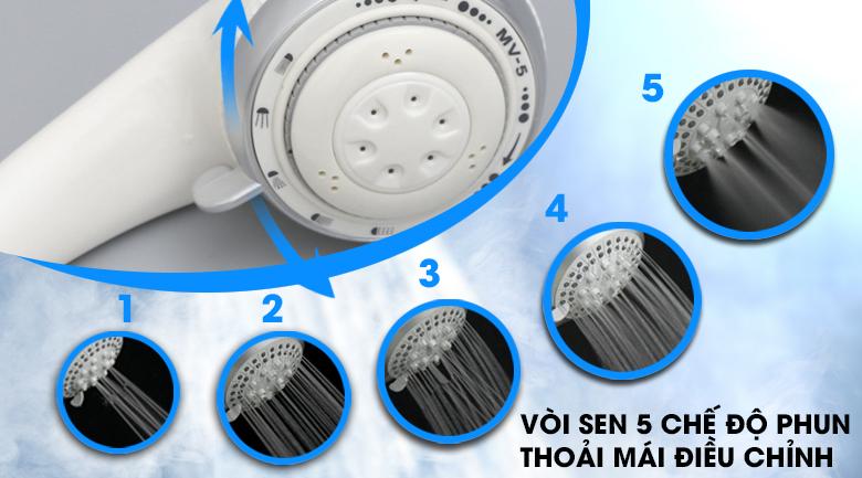 Vòi sen có 5 chế độ phun - Máy nước nóng EWE451HB-DWS2