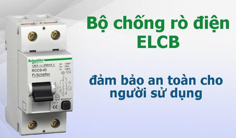 Cầu dao ELCB bảo đảm an toàn về điện cho cả gia đình