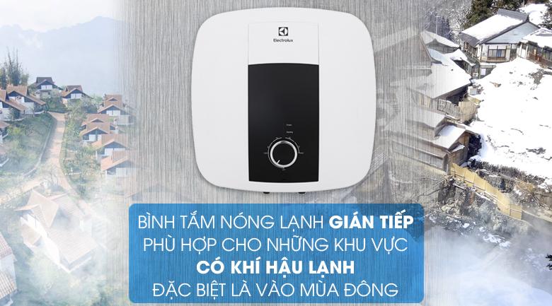 Làm nóng gián tiếp - Bình nước nóng Electrolux 15 lít EWS152DX-DWM