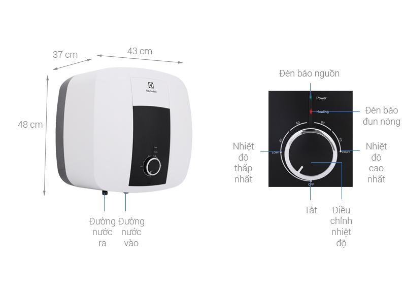 Thông số kỹ thuật Bình nước nóng Electrolux 30 lít EWS302DX-DWM