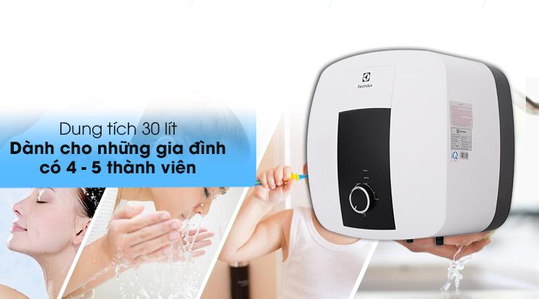 Bình nước nóng Electrolux 30 lít EWS302DX-DWM dành cho gia đình có 4 - 5 người