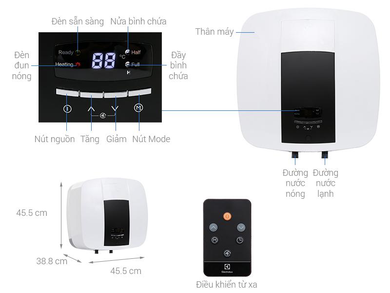 Thông số kỹ thuật Bình nước nóng Electrolux EWS302DX-DWE 30 lít