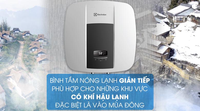 Làm nóng gián tiếp - Bình nước nóng Electrolux EWS302DX-DWE 30 lít