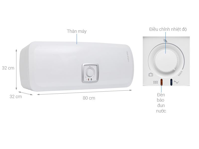 Thông số kỹ thuật Bình nước nóng Atlantic SWH 30H M Ondeo HZ 30 lít