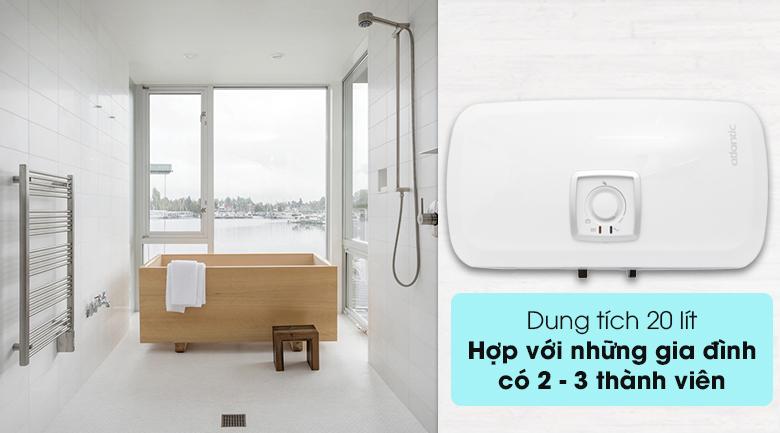 Bình nước nóng Atlantic SWH 20H M Ondeo HZ có dung tích 20 lít