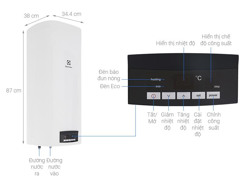 Thông số kỹ thuật Bình nước nóng Electrolux EWS502DX-DWE 50 lít