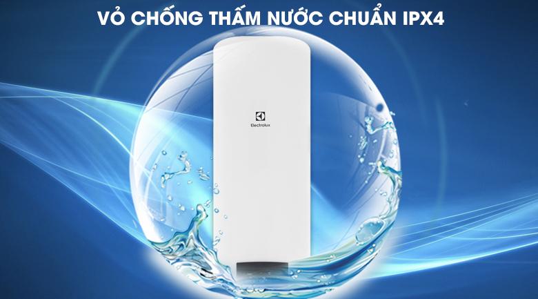 Vỏ chống thấm nước chuẩn IPX4 - Bình nước nóng Electrolux EWS502DX-DWE 50 lít