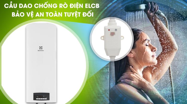 Cầu dao chống rò điện ELCB - Bình nước nóng Electrolux EWS502DX-DWE 50 lít