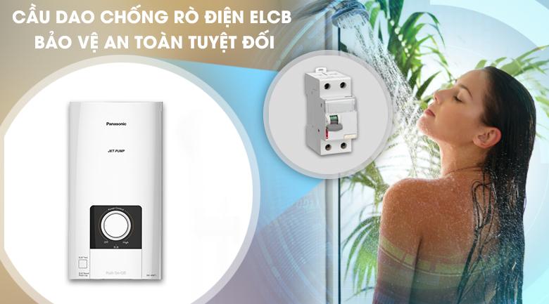 Hệ thống ELCB - Máy nước nóng Panasonic DH-4NP1VW