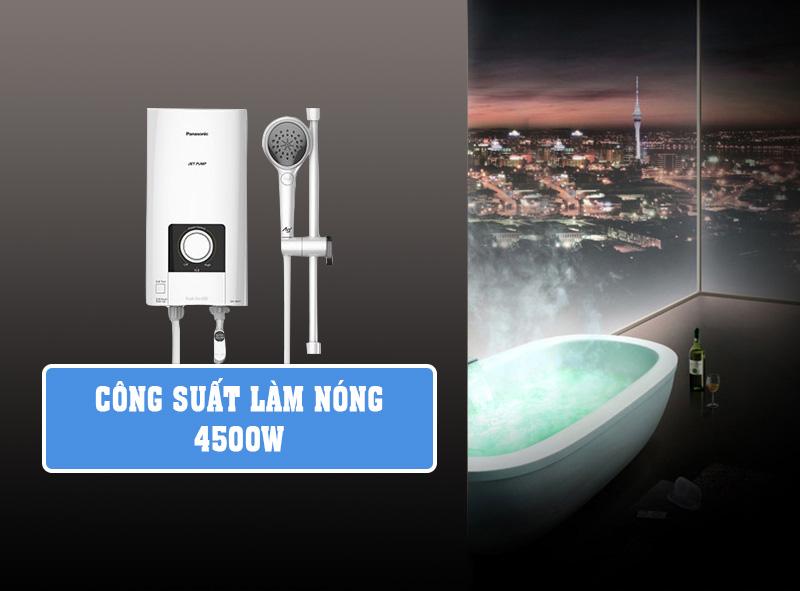 Công suất làm nóng 4500W - Máy nước nóng Panasonic DH-4NP1VW