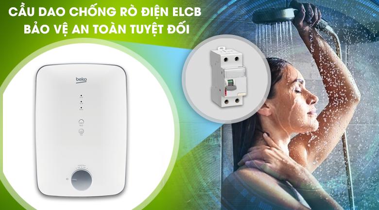 Cầu dao chống rò điện ELCB - Máy nước nóng Beko BWI45S1N-213