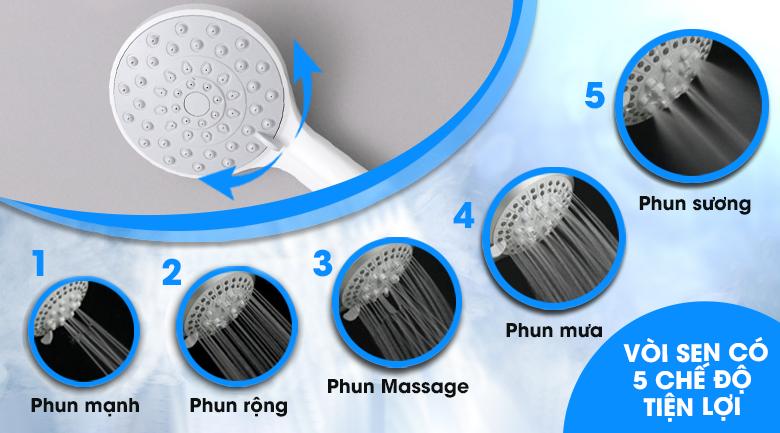 Vòi sen 5 chế độ phun - Máy nước nóng Beko BWI45S1N-213