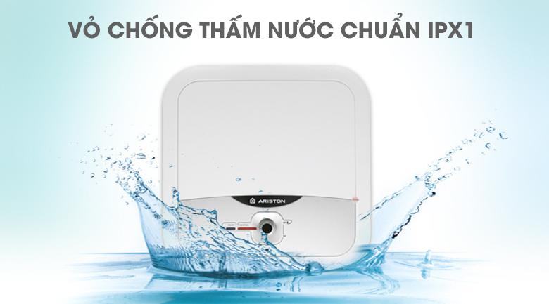 Vỏ chống thấm nước chuẩn IPX1 - Bình nóng lạnh Ariston AN2 RS 15 lít