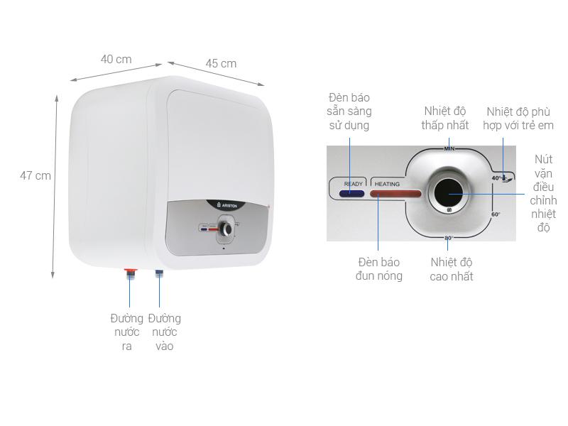 Thông số kỹ thuật Bình nóng lạnh Ariston AN2 RS 30 lít