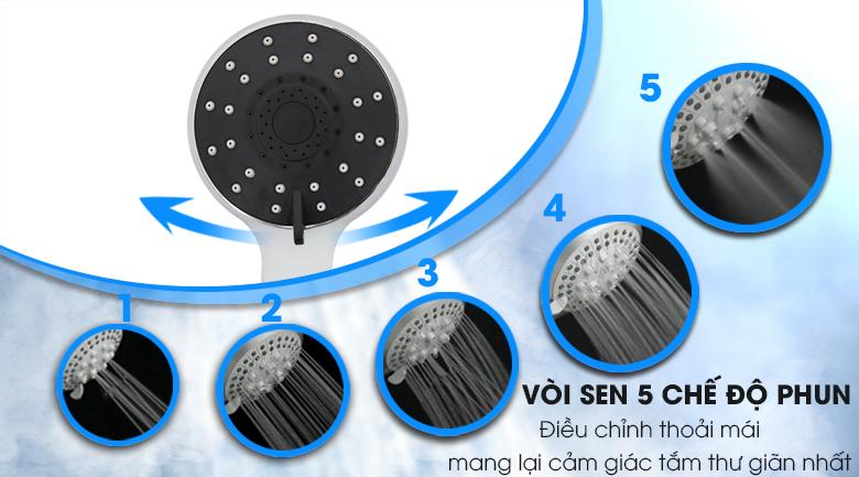 Vòi sen 5 chế độ phun - Máy nước nóng Midea DSK45P3 4500W
