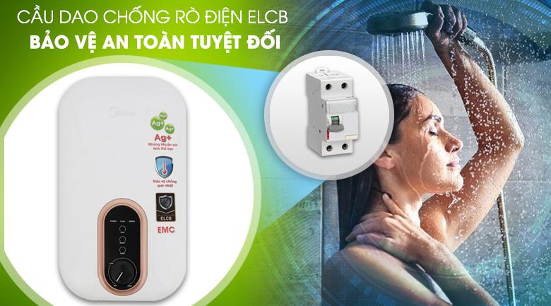 Cầu dao chống rò điện ELCB - Máy nước nóng Midea DSK45U3 4500W