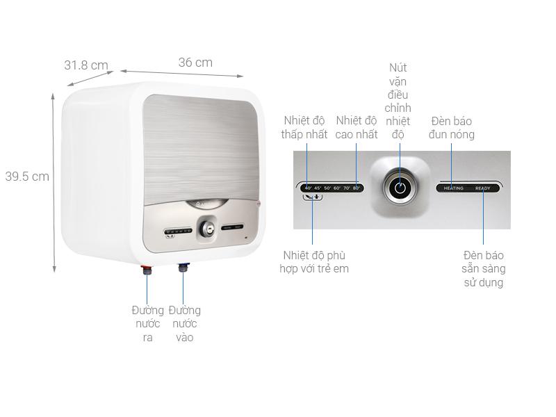 Thông số kỹ thuật Bình nóng lạnh Ariston 15 lít AN2 15 LUX 2.5 FE