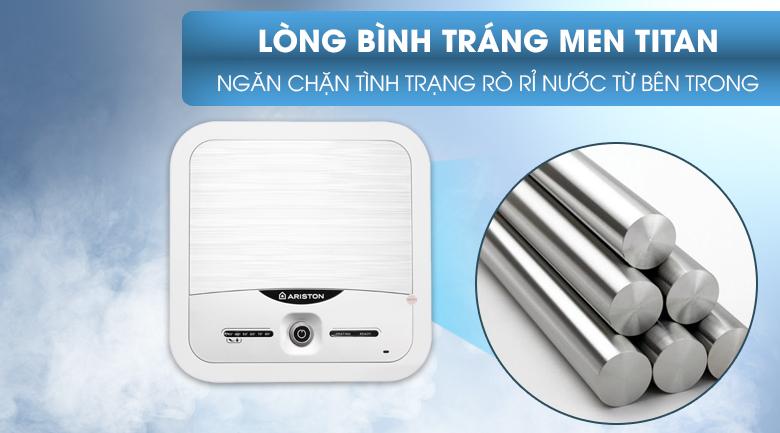 Lớp men Titan - Bình nóng lạnh Ariston 15 lít AN2 15 LUX 2.5 FE