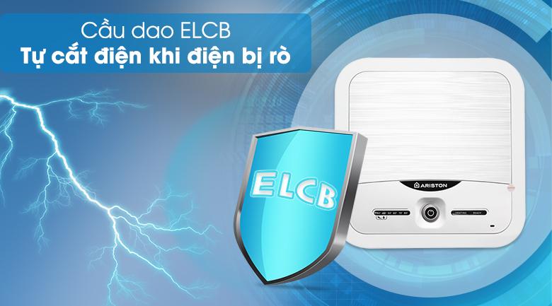 Cầu dao ELCB - Bình nóng lạnh Ariston 15 lít AN2 15 LUX 2.5 FE