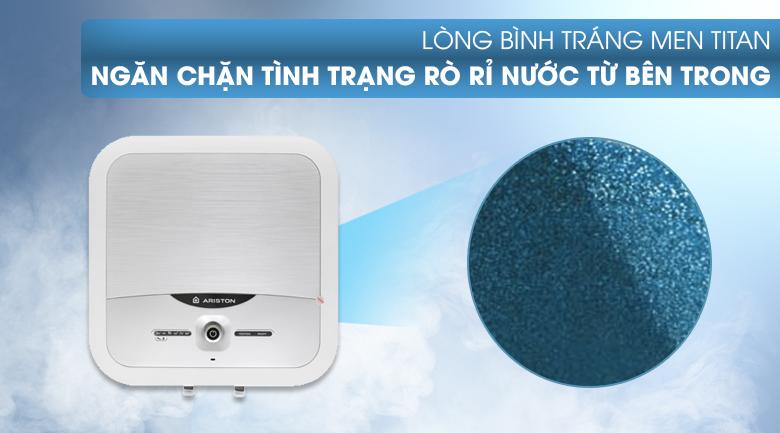 Lòng bình tráng men titan - Bình nóng lạnh Ariston 30 lít AN2 30 LUX 2.5 FE