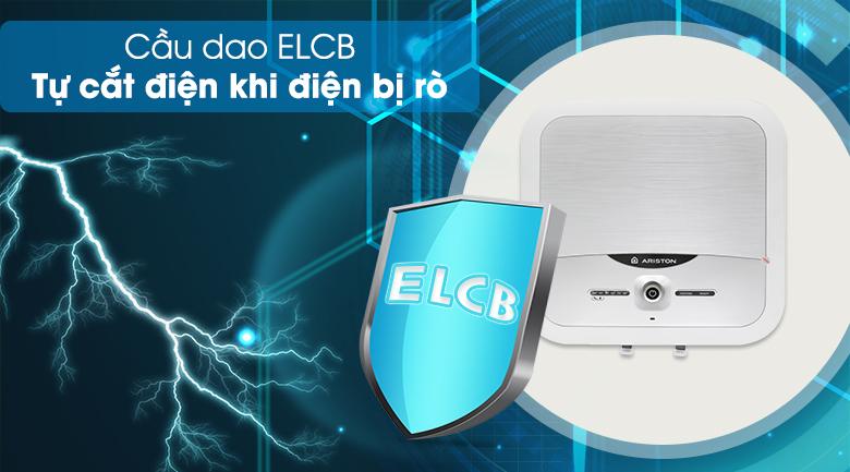 Cầu dao ELCB - Bình nóng lạnh Ariston 30 lít AN2 30 LUX 2.5 FE