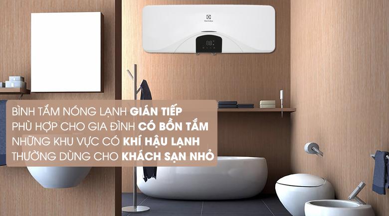Làm nóng gián tiếp - Bình tắm nóng lạnh Electrolux EWS202DX-DWE 20 lít