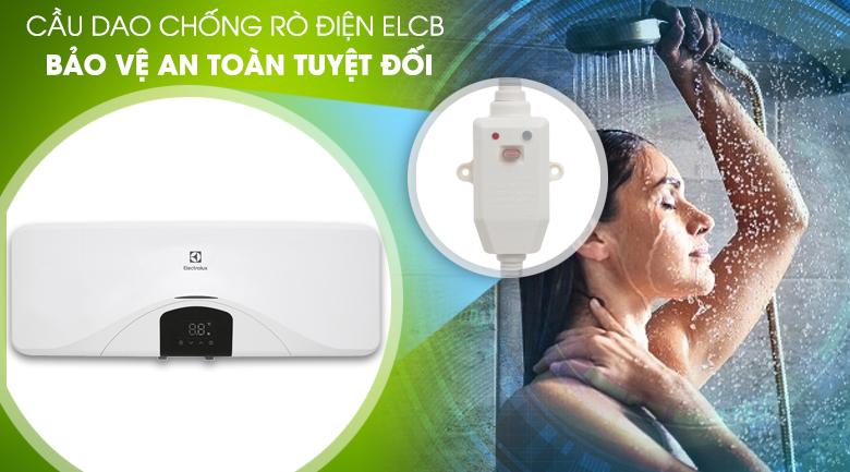 Cầu dao ELCB - Bình tắm nóng lạnh Electrolux EWS202DX-DWE 20 lít