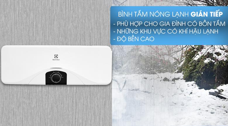 Làm nóng gián tiếp - Bình nóng lạnh Electrolux EWS202DX-DWM 20 lít